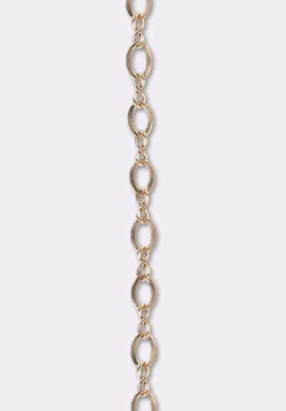 22d41d38395 Gold filled rosé 14 k chaîne à maille fantaisie 2x3 mm x10cm - Perles et  apprets Gold Filled or rose 14 k 575 1000 - Argent 925