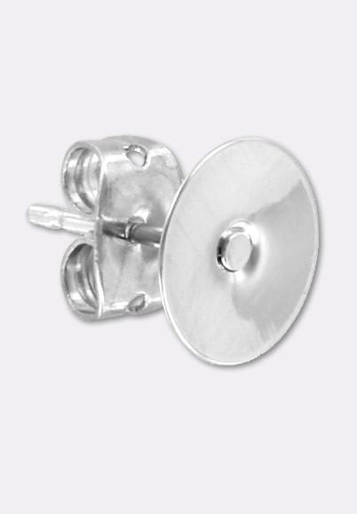 Coller Mm X2 Clou À D'oreille Boucles D'oreilles Support 8 Argent 4qcRAjL35