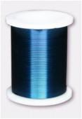Fil de cuivre 0.45 bleu x18m