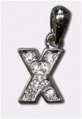 Breloque strass lettre x x1