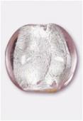 Feuille d'argent palet bombé 16 mm light rose x2