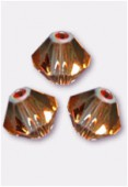 Toupie 5328 3 mm crystal copper x50