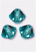 Toupie 5328 4 mm blue zircon x50