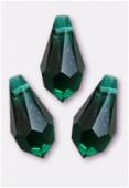 Goutte 6000 11x5,5 mm emerald x6