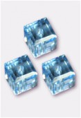 Cube 5601 4 mm aquamarine x6