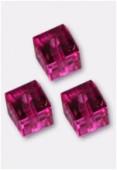 Cube 5601 6 mm fuchsia x2