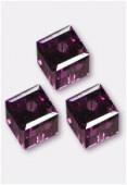 Cube 5601 6 mm amethyst x2