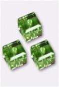 Cube 5601 6 mm peridot x2