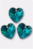 Coeur 6228 10,3x10 mm blue zircon x4