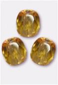 Facette 3 mm light amber x50