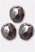 Facette 3 mm amethyst / silver x50
