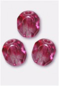 Facette 3 mm rose / crystal x50