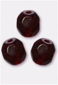 Facette 4 mm garnet x50