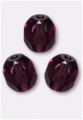 Facette 5 mm dark amethyst x24