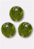 Facette 6 mm olivine x24