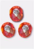 Facette 6 mm orange AB x24