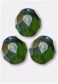 Facette 10 mm olivine AB x6