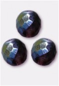 Facette 12 mm dark amethyst AB x2