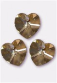 Coeur 6228 18x17,5 mm crystal golden shadow x1