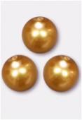 Ronde nacrée 12 mm gold x2