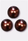 Ronde nacrée 8 mm bronze x6