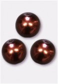 Ronde nacrée 12 mm bronze x2