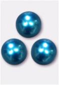 Ronde nacrée 8 mm turquoise x6