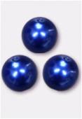 Ronde nacrée 10 mm bleu x300