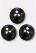 Ronde nacrée 12 mm hématite x2