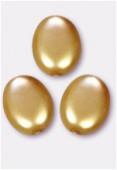 Palet ovale nacré 12x9 mm or x4