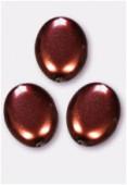 Palet ovale nacré 12x9 mm chocolat x300
