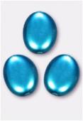 Palet ovale nacré 12x9 mm turquoise x4