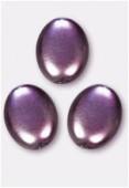 Palet ovale nacré 12x9 mm améthyste x300