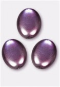 Palet ovale nacré 12x9 mm améthyste x4