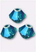 Toupie 5328 4 mm blue zircon AB2x x50