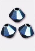 Toupie 5328 4 mm crystal metallic blue 2X x50
