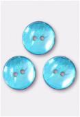 Bouton en nacre 18 mm turquoise x4