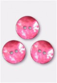 Bouton en nacre 18 mm rouge x4
