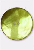 Bouton en nacre 44 mm anis x1