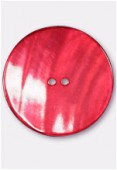 Bouton en nacre 44 mm rouge x1
