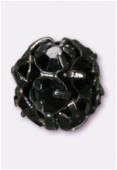 Boule strass 6 mm jet / noir x1