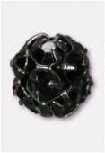 Boule strass 8 mm jet / noir x1