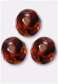 Facette 8 mm tortoise shell x12