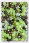 Facette 4 mm mélange lichen x50