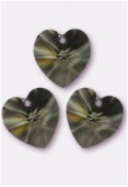 Coeur 6228 10,3x10 mm black diamond x4
