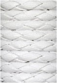 Cuir synthétique tressé blanc x92cm