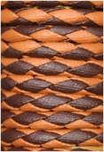 Cuir synthétique tressé ocre / brun x92cm