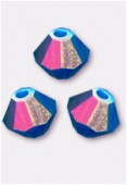 Toupie 5328 4 mm caribbean blue opal AB x50