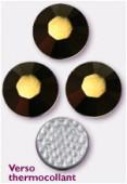 Strass HOTFIX 2028 SS10 3 mm crystal dorado M HF x50