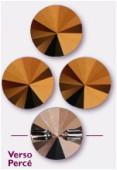 Bouton rivoli 3015 10 mm crystal dorado x1